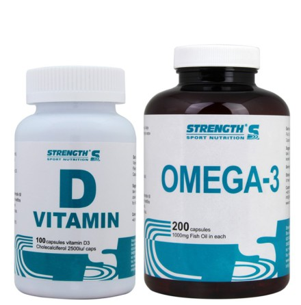 Strength Omega-3 200caps + D-vitamin 100caps