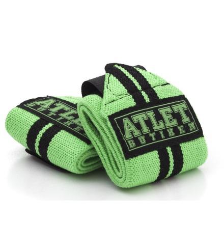 Atletbutiken Wrist Wraps - Grön Med Svarta Linjer
