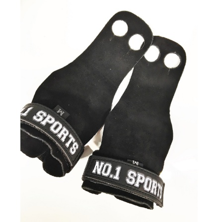 No.1 Sports Pull Up Grips Black Leather