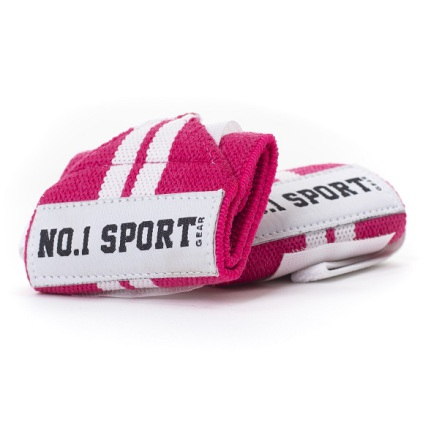 No.1 Sports Wrist Wraps Pink