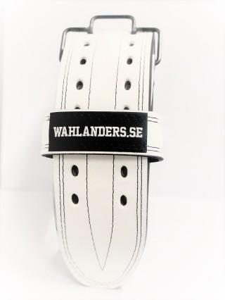 Wahlanders Bälte vit med svart söm