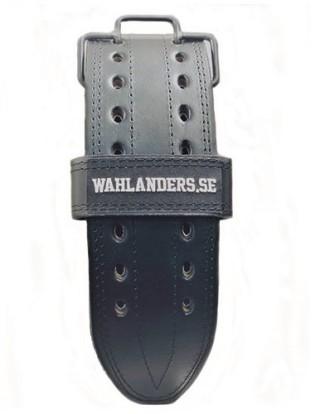 Wahlanders Bälte Mjuk svart med svart söm