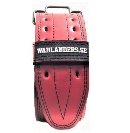 Wahlanders Bälte röd med svart söm