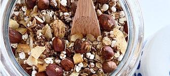 Kanel och salty caramel granola