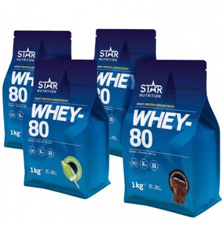 Whey 80 Mix&Match 4x1kg