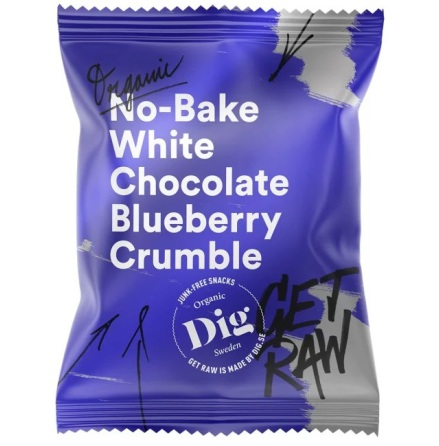 Get Raw White Chocolate Blueberry Crumble