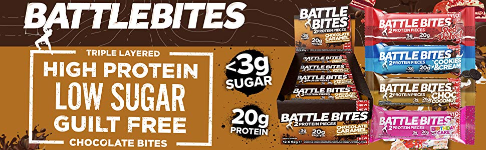 Battle Bite Proteinbars med lågt socker